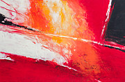 Cadmium Red Posters - Red Abstract No. 2 Poster by Palatia Photo