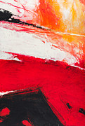 Cadmium Red Posters - Red Abstract No. 3 Poster by Palatia Photo