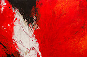 Cadmium Red Posters - Red Abstract No. 6 Poster by Palatia Photo