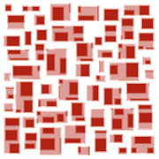 Frank Tschakert - Red Abstract Rectangles