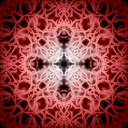Snowflake Digital Art Posters - Red Poster by Adam Romanowicz