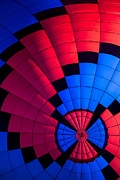 Ballooning Posters - Red and Blue Pattern Poster by Garry Gay
