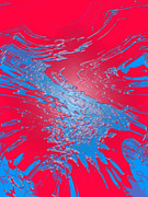 Ken Kocses Art - Red and Blue Slushy by Ken Kocses