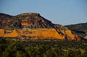 The Plateaus Photo Prints - Red and Green Plateau New Mexico Print by Deborah Smolinske