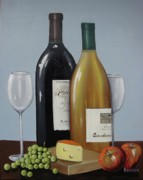 Winery Paintings - Red and White by Ksusha Scott