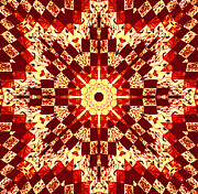 Prints Tapestries - Textiles - Red and White Patchwork Art by Barbara Griffin