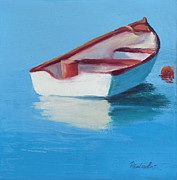 Sheila Psaledas - Red and White Skiff