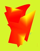 Stained Digital Art - Red and Yellow Abstract Art by Mario  Perez