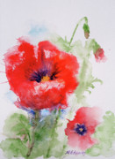 Get Well Wishes Prints - Red Anemones Print by Marna Edwards Flavell