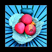 Refreshing Originals - Red apples on a platter by Tommy Hammarsten