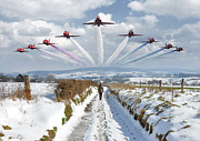 Limburg Metal Prints - Red Arrows over Epen Metal Print by Nop Briex