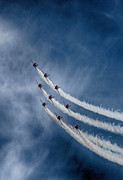 Smoke Trails Posters - Red Arrows Poster by Phil Clements