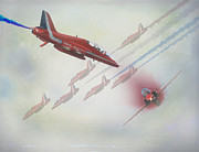 Roy Mcpeak Posters - Red Arrows Poster by Roy McPeak