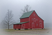 Red Barn At Ware Neck Print by Williams-Cairns Photography LLC