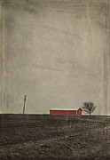 Nosyreva Metal Prints - Red Barn Metal Print by Elena Nosyreva