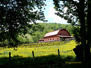 Barn In The Woods Photos - Red Barn by Glenda Barrett