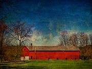 Barns Digital Art - Red Barn Hurley NY by Pamela Phelps