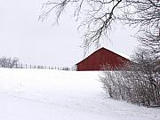 Carol Sweetwood - Red Barn in the Snow