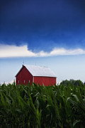 Indiana Photography Prints - Red Barn Indiana Print by Michael Huddleston