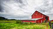 Barn Storm Prints - Red Barn Print by Jack Nevitt