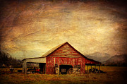 Red Barn  Print by Joan McCool