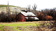 Old Mills Photos - Red Barn by Steve McKinzie