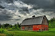 Quebec Art - Red Barn by Tim Wilson