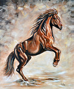 Red Horse Paintings - Red Beauty by Ilse Kleyn