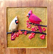 Landscapes Reliefs - Red Birds by Michael Pasko