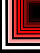 Shine Digital Art - Red Black and White Abstract Geometric by Mario  Perez