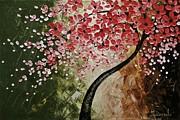 Red Blossoms  Print by Tomoko Koyama