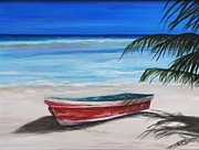 Rowboat Originals - Red Boat by Nancy Chenet