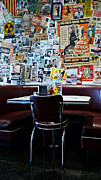 Hunger Framed Prints - Red Booth awaits in the Diner Framed Print by Nina Prommer