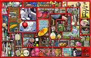Celebration Digital Art Metal Prints - Red Box Metal Print by Colin Thompson
