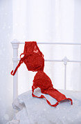 Red Fabric Art - Red Bra by Christopher Elwell and Amanda Haselock