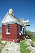 Pemaquid Lighthouse Framed Prints - Red Brick Bell House Pemaquid Framed Print by Norm Rodrigue