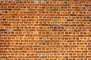 Old Wall Posters - Red Brick Wall Texture Poster by Antony McAulay
