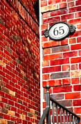 Red Bricks Prints - Red Bricks Print by Valentino Visentini