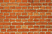Stonewall Posters - Red Bricks Wall Background Poster by Kiril Stanchev