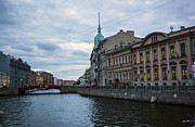 Saint Petersburg Photos - Red Bridge - St. Petersburg - Russia by Madeline Ellis