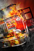 Angela Waye - Red Burning Fire Rescue...