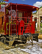 Old Caboose Photos - Red caboose Close up by Harry Lamb