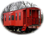 Caboose Framed Prints - Red Caboose Framed Print by TnBackroads Photography