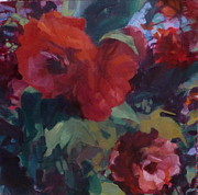 Phyllis Rosenberg - Red camillias outside