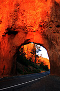 Spider Rock Art Framed Prints - Red Canyon Tunnel Framed Print by Kenan Sipilovic