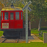 Street Photography Digital Art - Red Car Museum In Seal Beach CA by Ben and Raisa Gertsberg