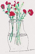 Thelma Harcum - Red Carnations in Vase