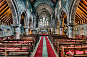 St Mary Prints - Red Carpet Print by Adrian Evans