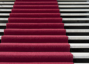 Vip Entrance Prints - Red Carpet On Stairs Print by Hans Engbers