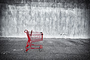 Shopping Cart Prints - Red Cart Print by Patrick M Lynch